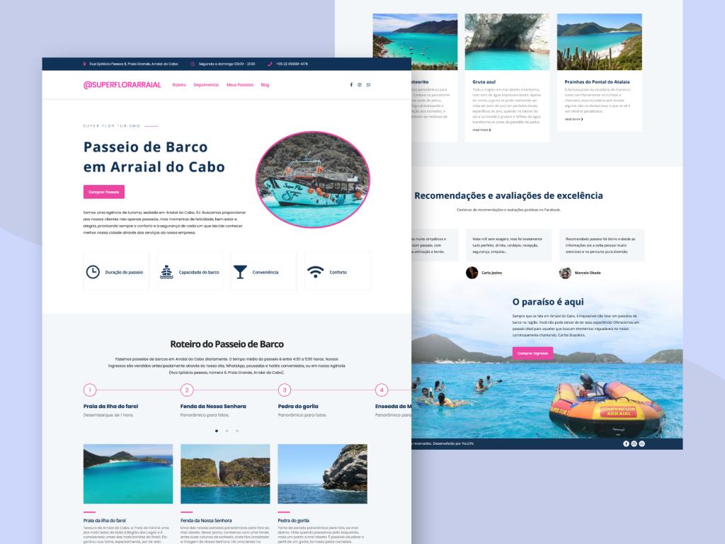 Criação de site para agência de turismo-especializada em receptivo