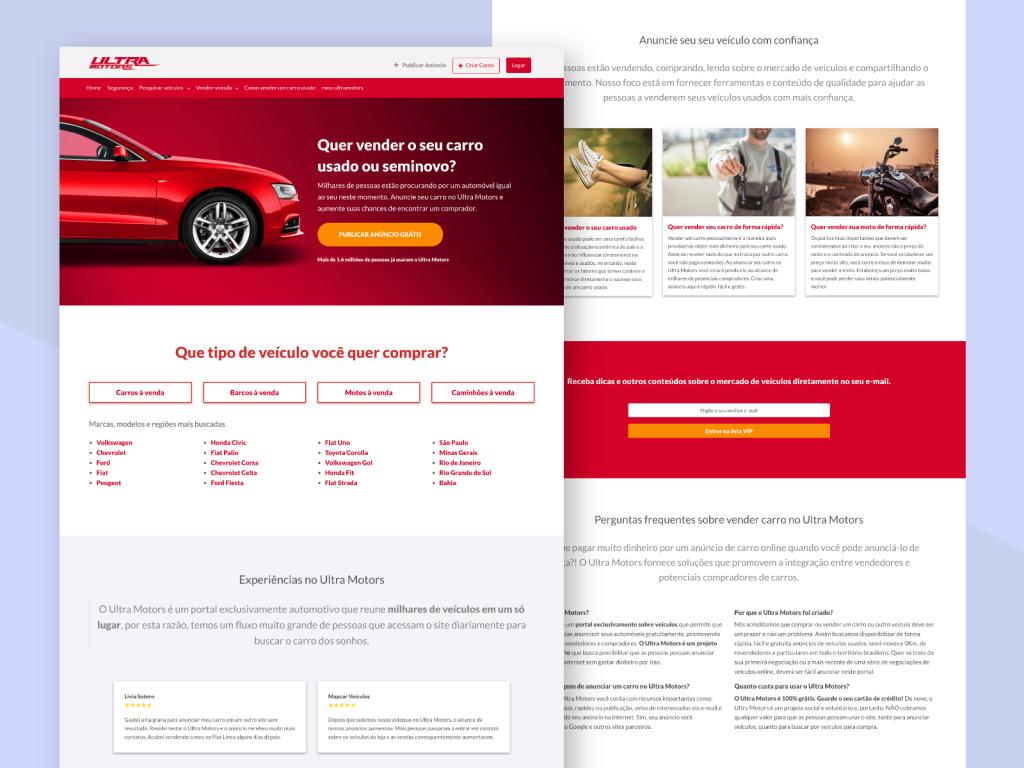 Criação de site para classificado automotivo on-line