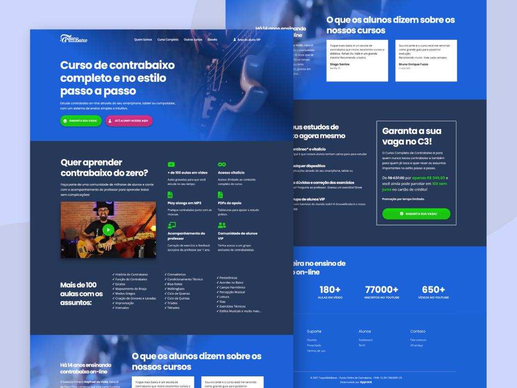 Criação de site para a ToqueMaisBaixo
