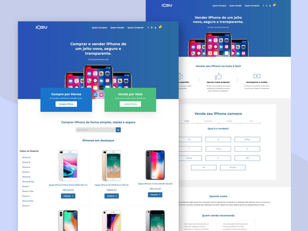 Criação de site para marketplace de iPhones usados