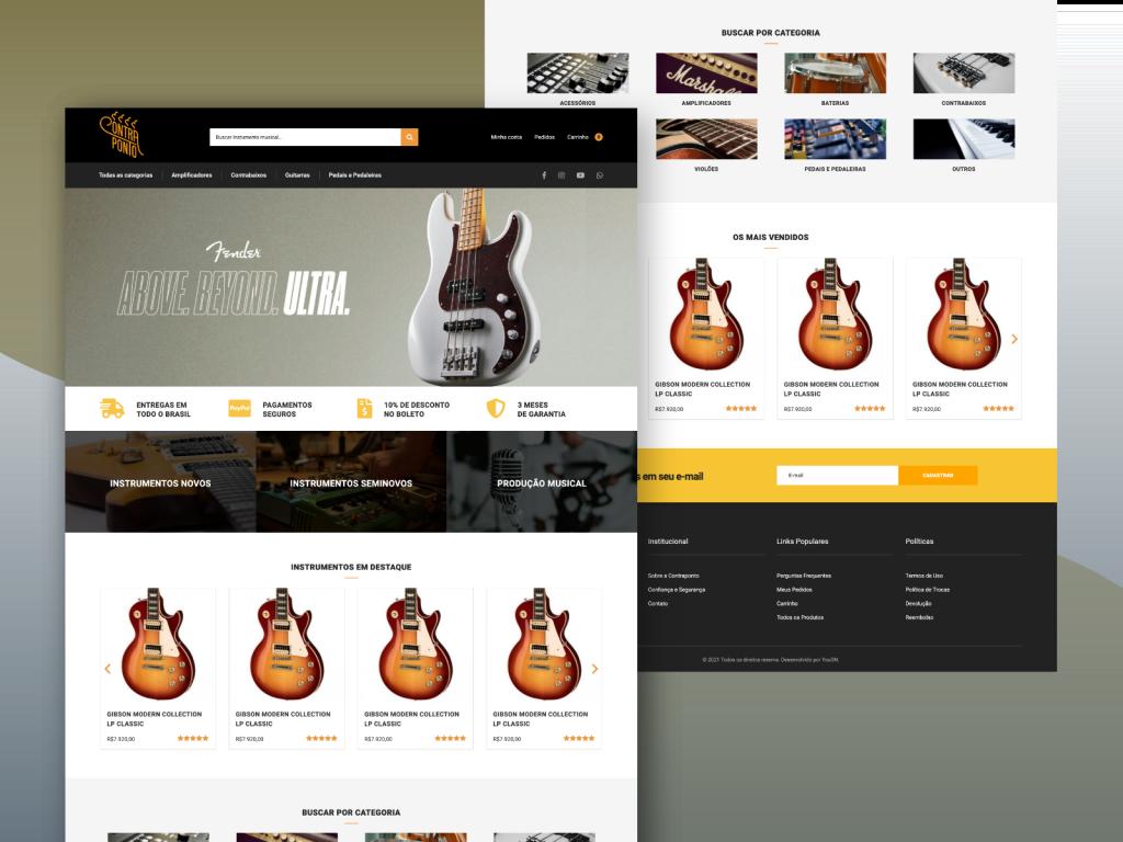 Criação de e-commerce para venda de instrumentos musicais e acessórios
