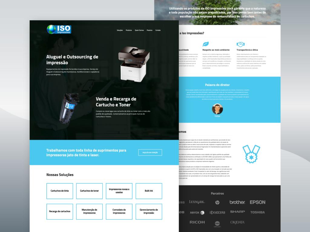 Criação de site para empresa de Aluguel e Outsourcing de impressão.